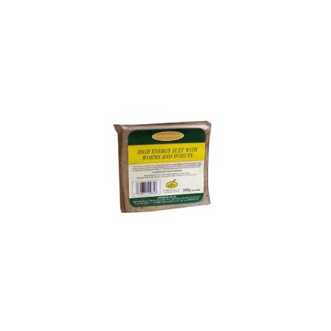 Johnston & Jeff High Energy Suet Block With Meal Worms - Wild Bird Feed 300g