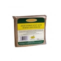 High Energy Suet Block with Worms and Insects - Wild Bird Feed 300g