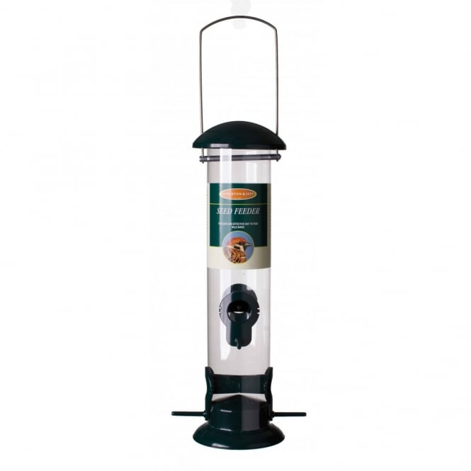Johnston & Jeff Large Seed Feeder - Wild Bird Seed Feeder