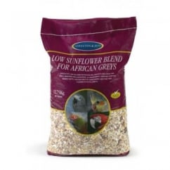 Johnston & Jeff Low Sunflower Blend For African Greys 12.75Kg - Parrot Food