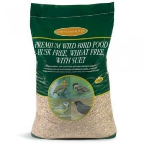 Johnston & Jeff Premium Wild Bird Food - Husk Free, Wheat Free, With Suet