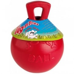 "Jolly Pets 8"" Tug-N-Toss Jolly Ball Red - Dog Toy"