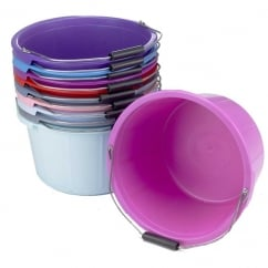 Coloured Equestrian Feed Bucket