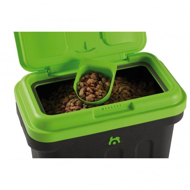 dry box dog pet food storage container green