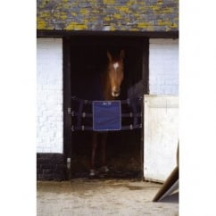 Competition Horse Stall Guard Navy/Silver