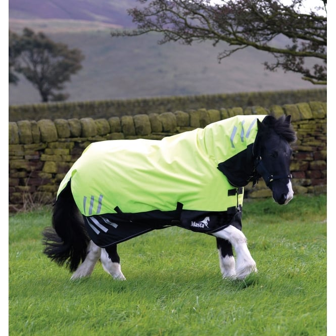 Masta Avante Hi Viz 200g Fixed Neck Turnout Rug Yellow/Black