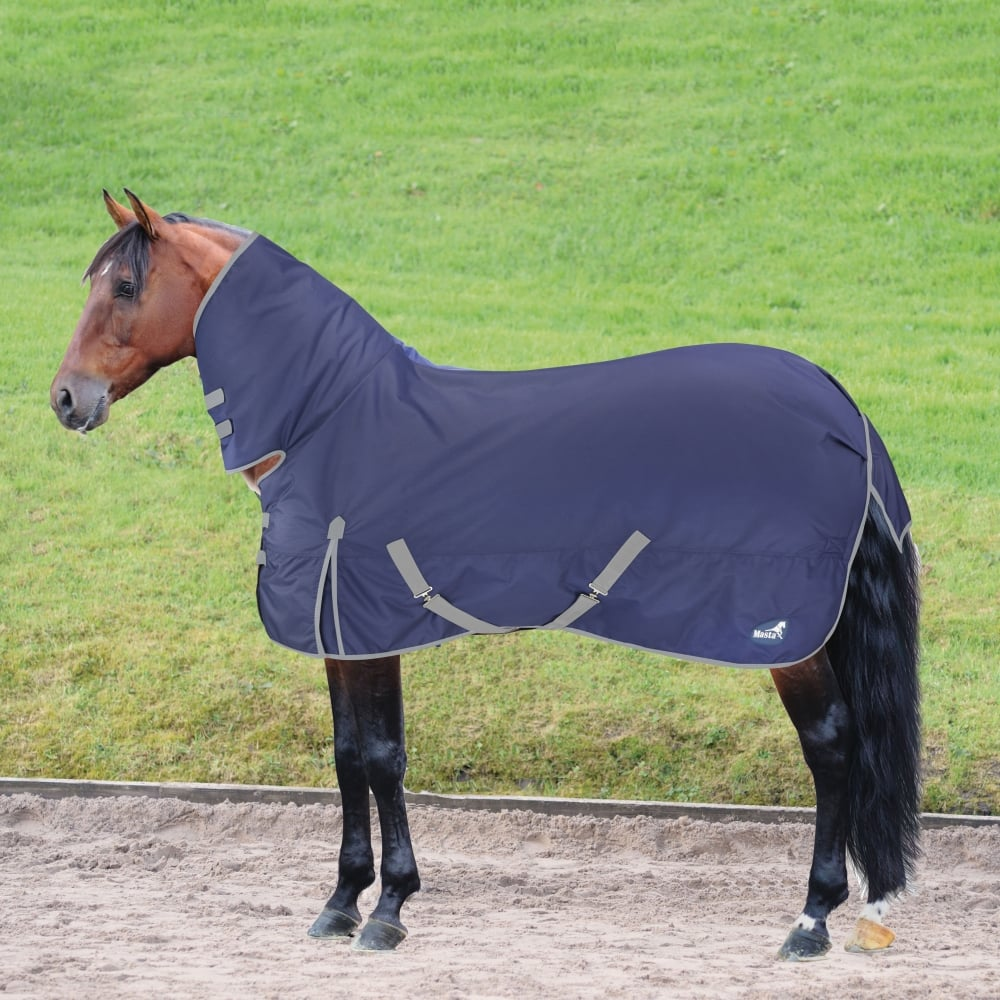 Basic 200g Fixed Neck Turnout Rug Navy