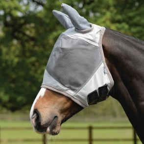 Masta UV Fly Mask with Ear Protection Silver