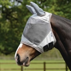 UV Fly Mask with Ear Protection Silver