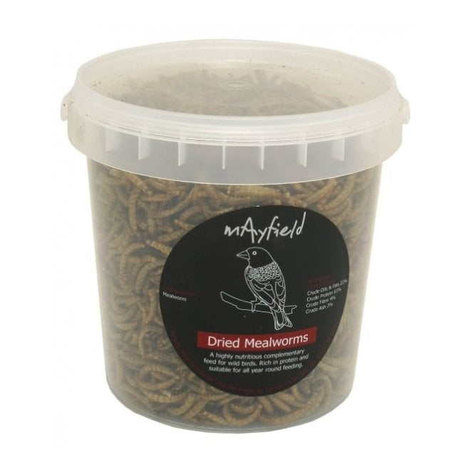 Mayfield Dried Mealworms - Wild Bird Food / Treat