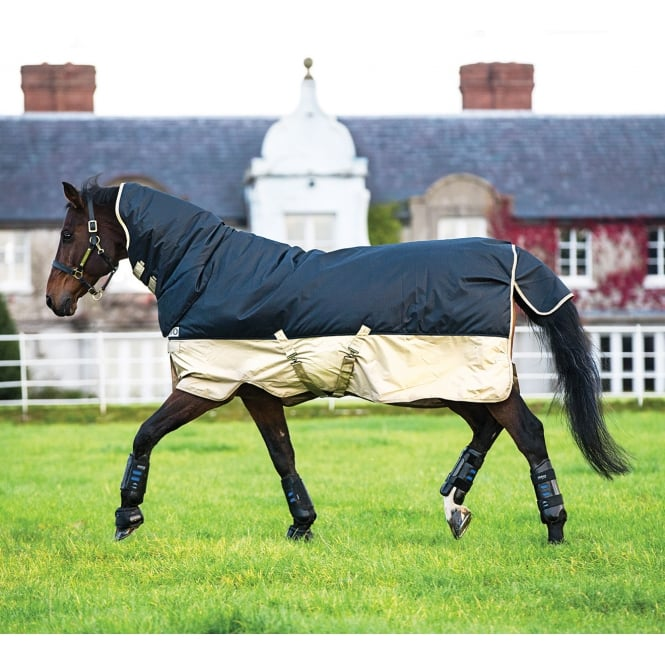 Mio All in One 0g Turnout Rug Navy/Tan