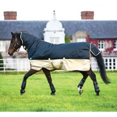 All in One 0g Turnout Rug Navy/Tan