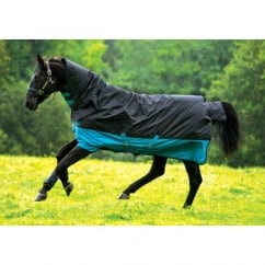 All In One Medium Turnout Rug Turquoise And Black