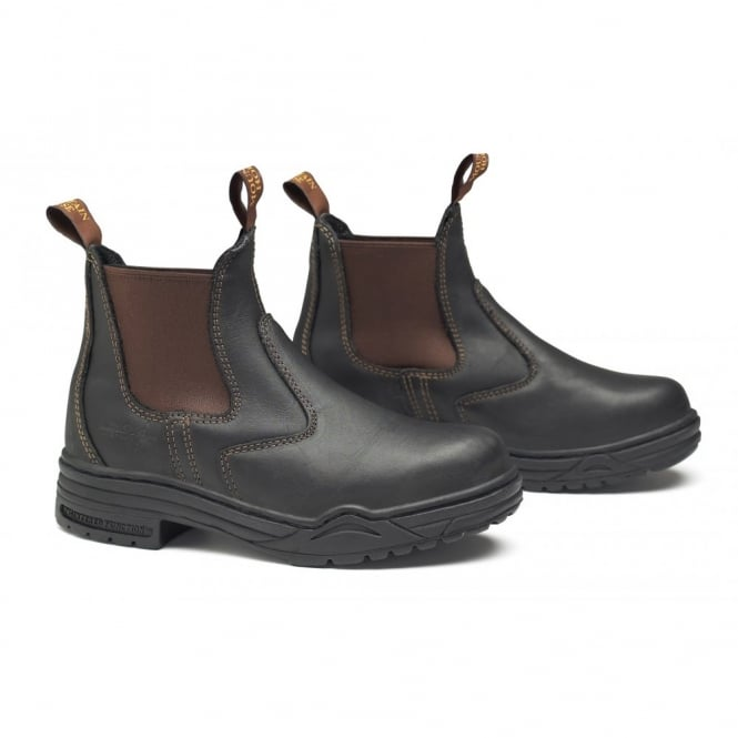 Mountain Horse Protective Jodhpur Boots Brown With Steel Toe Cap