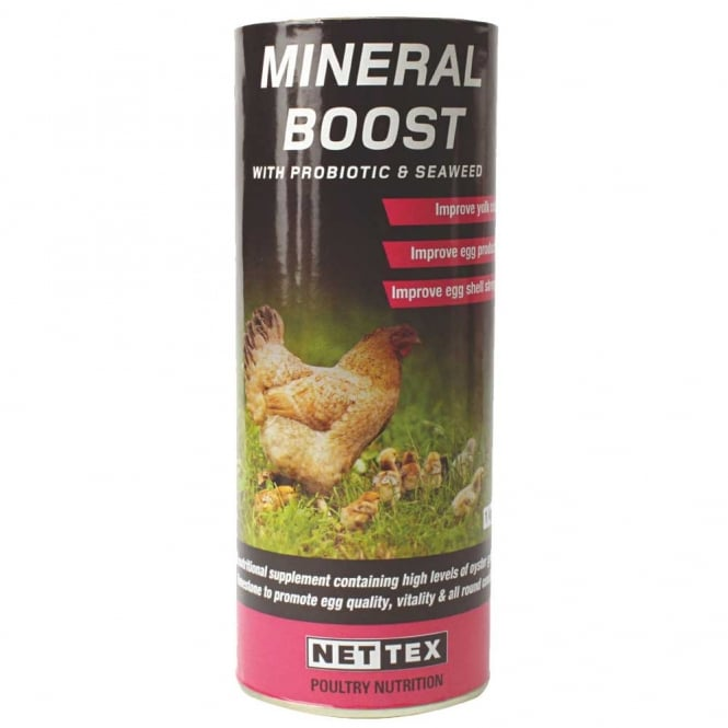 Net-Tex Poultry Mineral Boost With Probiotics & Seaweed 450g