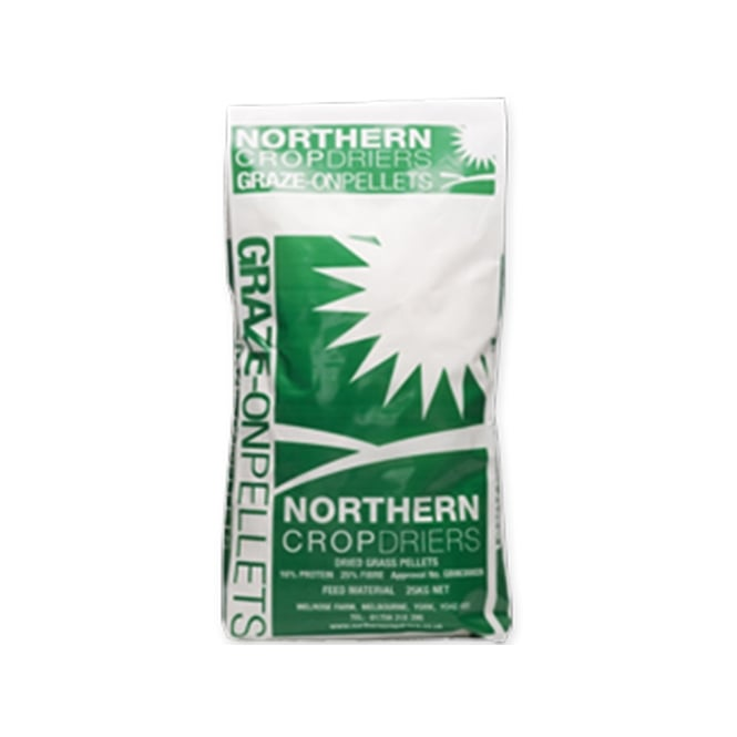 Northern Crop Driers Graze-On Grass Pellets 20Kg - Horse Feed