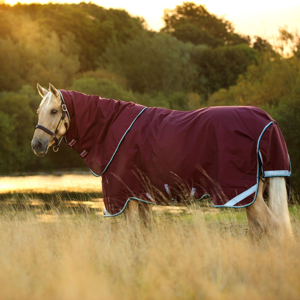 Duo Turnout Rug 100g With 300g Liner Burgundy Duck Egg Black
