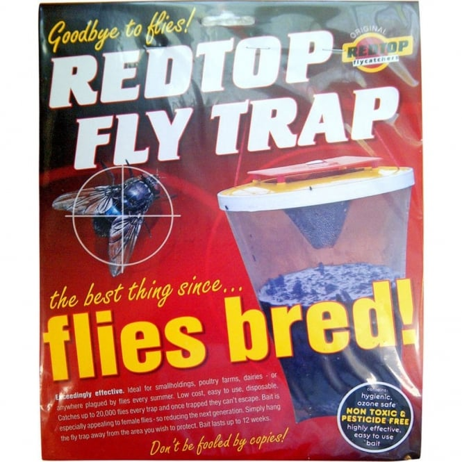 RedTop Fly Trap - Effective Disposable Fly Trap