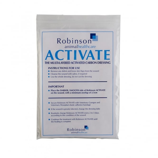 Robinson Activate Carbon Dressing for Horse Wounds 5 Pack
