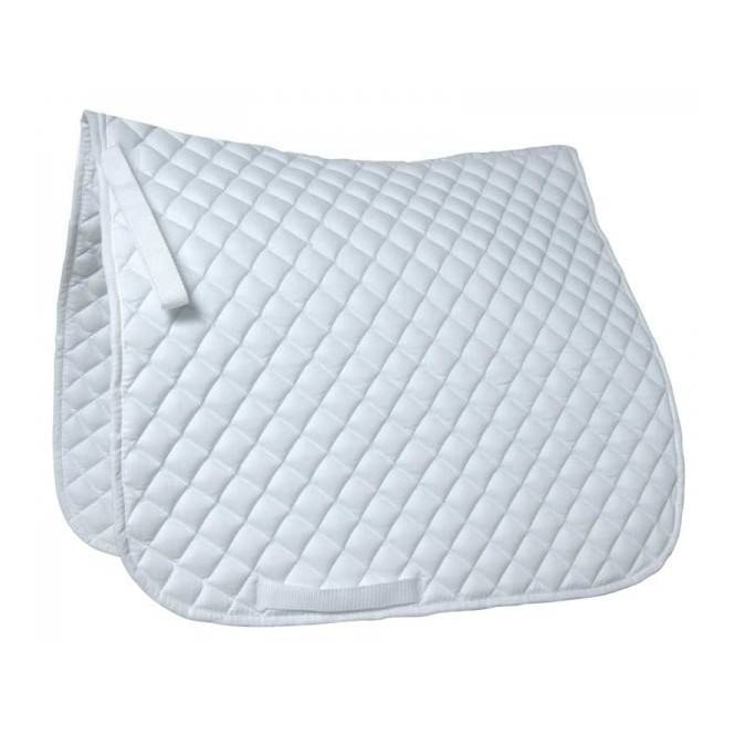 Roma Diamond Quilted Grand Prix Dressage Saddle Pad White - Size Full