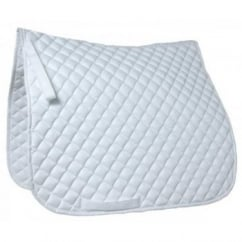 Diamond Quilted Grand Prix Dressage Saddle Pad White - Size Full