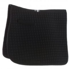 Grand Prix Dressage Pad Small Square Black Full
