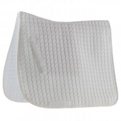 Grand Prix Dressage Pad Small Square White Full