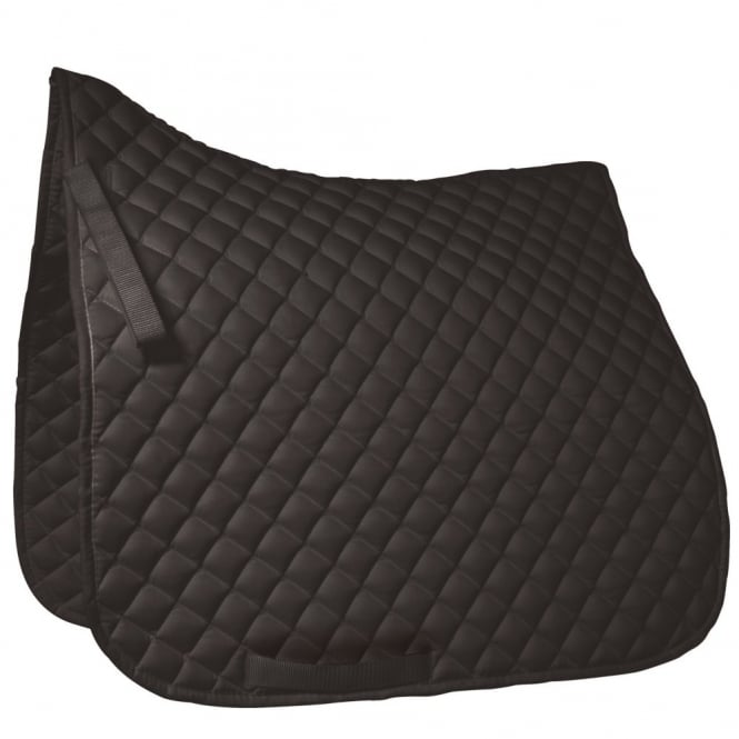 Roma Grand Prix High Wither Dressage Pad Black Full