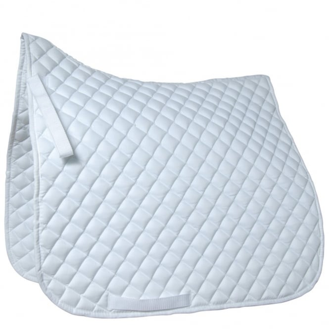Roma Grand Prix High Wither Dressage Pad White Full