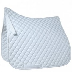 Grand Prix High Wither Dressage Pad White Full