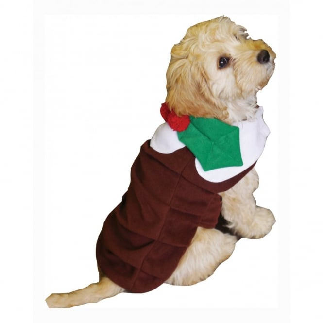 Christmas Pudding Outfit.Rosewood Jolly Doggy Christmas Pudding Dog Coat Costume