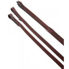 Rubber Reins Brown - Horse Riding Reins