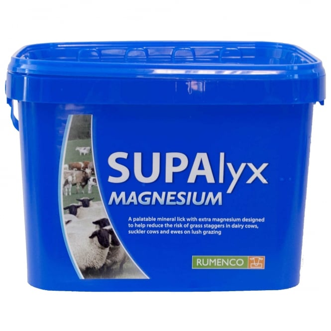Rumenco Supalyx Magnesium (BLUE) Nutritional Lick for Cattle & Sheep 22.5Kg