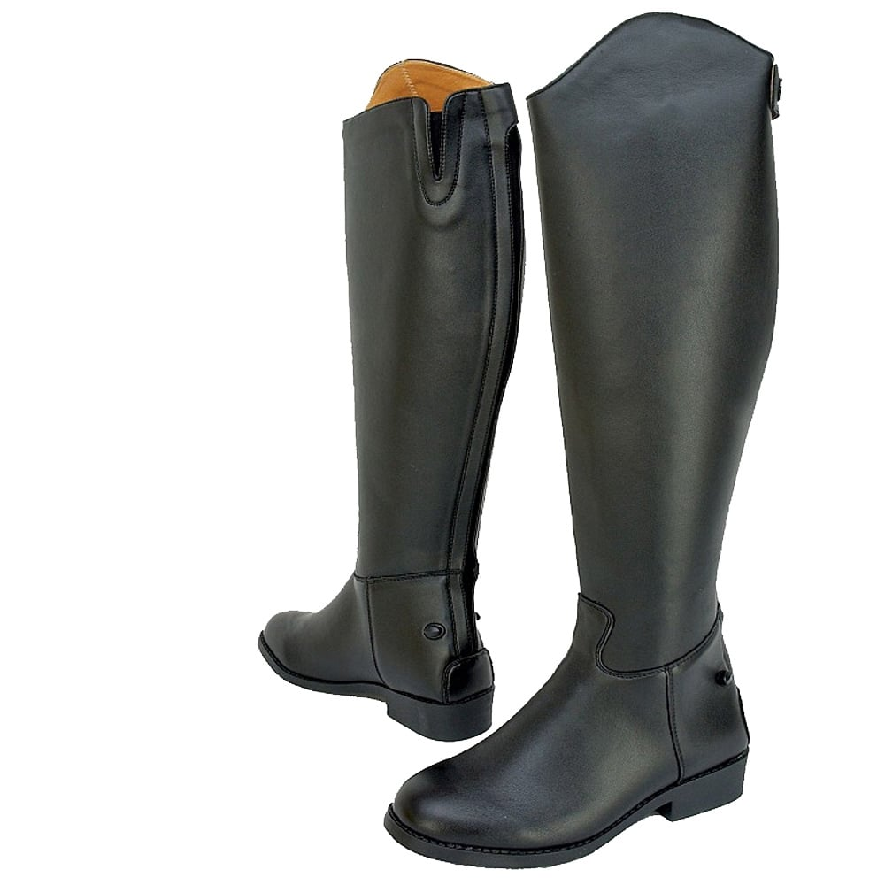 Saxon Adults Equileather Tall Plain Riding Boots Regular