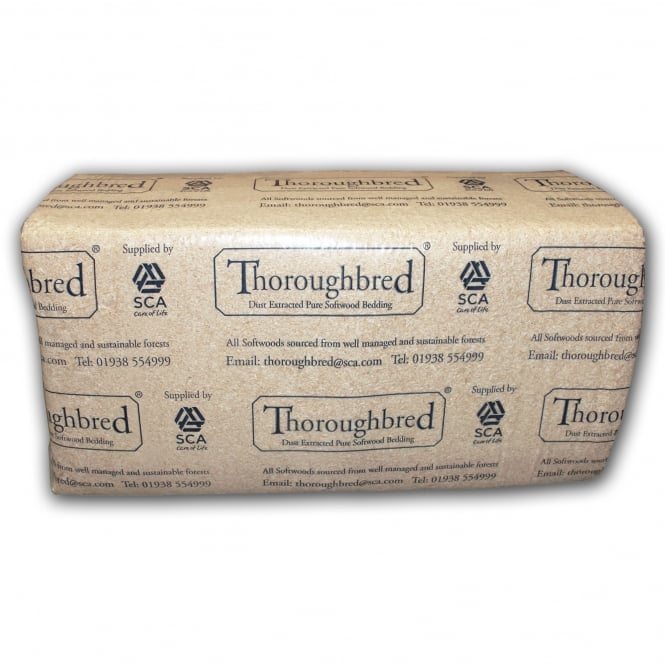 SCA Thoroughbred Shavings - Horse Bedding Bale - Aprox 20Kg