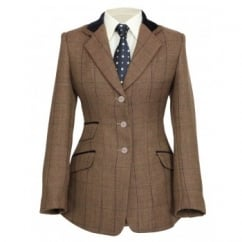 Huntingdon Ladies Show Jacket - Brown Herringbone