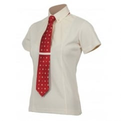 Ladies Short Sleeve Tie Shirt Yellow