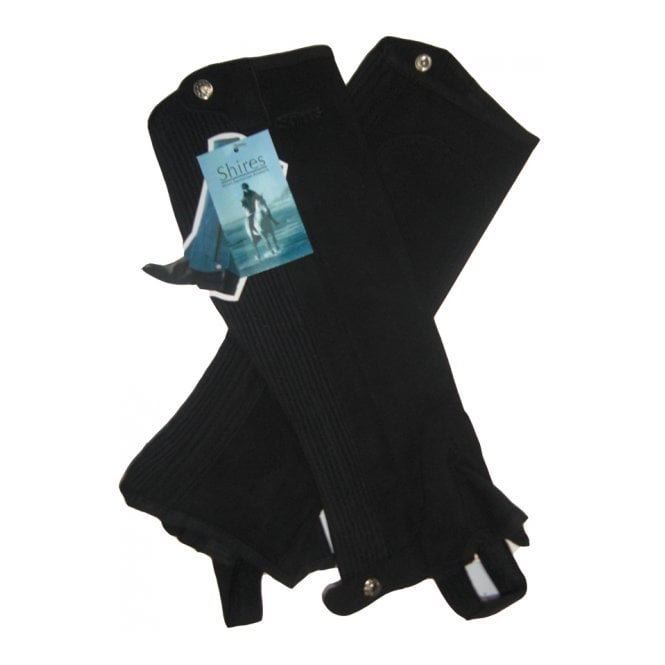 Shires Equestrian Suede Half Chaps Childs Black