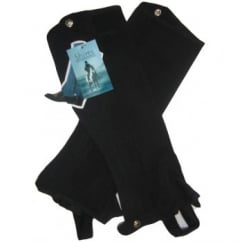 Suede Half Chaps Childs Black