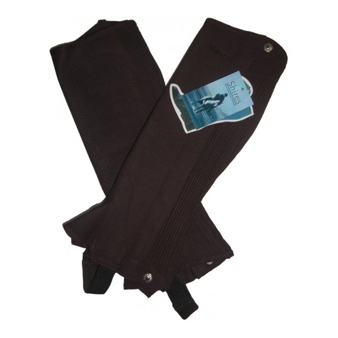 Shires Suede Half Chaps Childs Brown