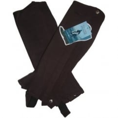 Suede Half Chaps Childs Brown