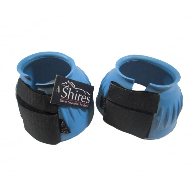 Shires Velcro Over Reach Boots BabyBlue