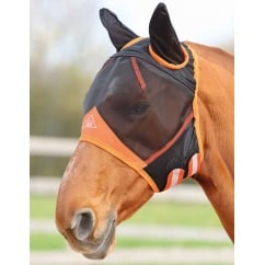 Fine Mesh Fly Mask With Ears Black