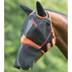 Fine Mesh Fly Mask With Ears & Nose Black