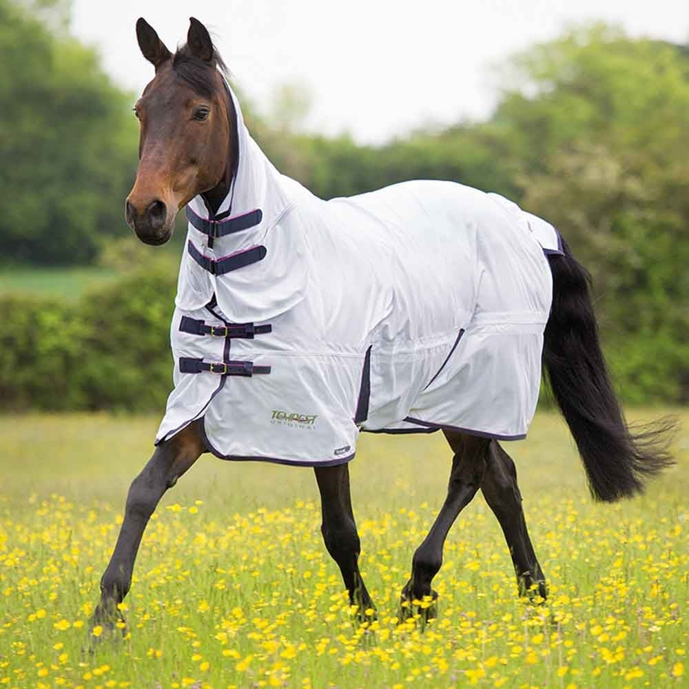 Shires Tempest Mesh Fly Rug Combo White