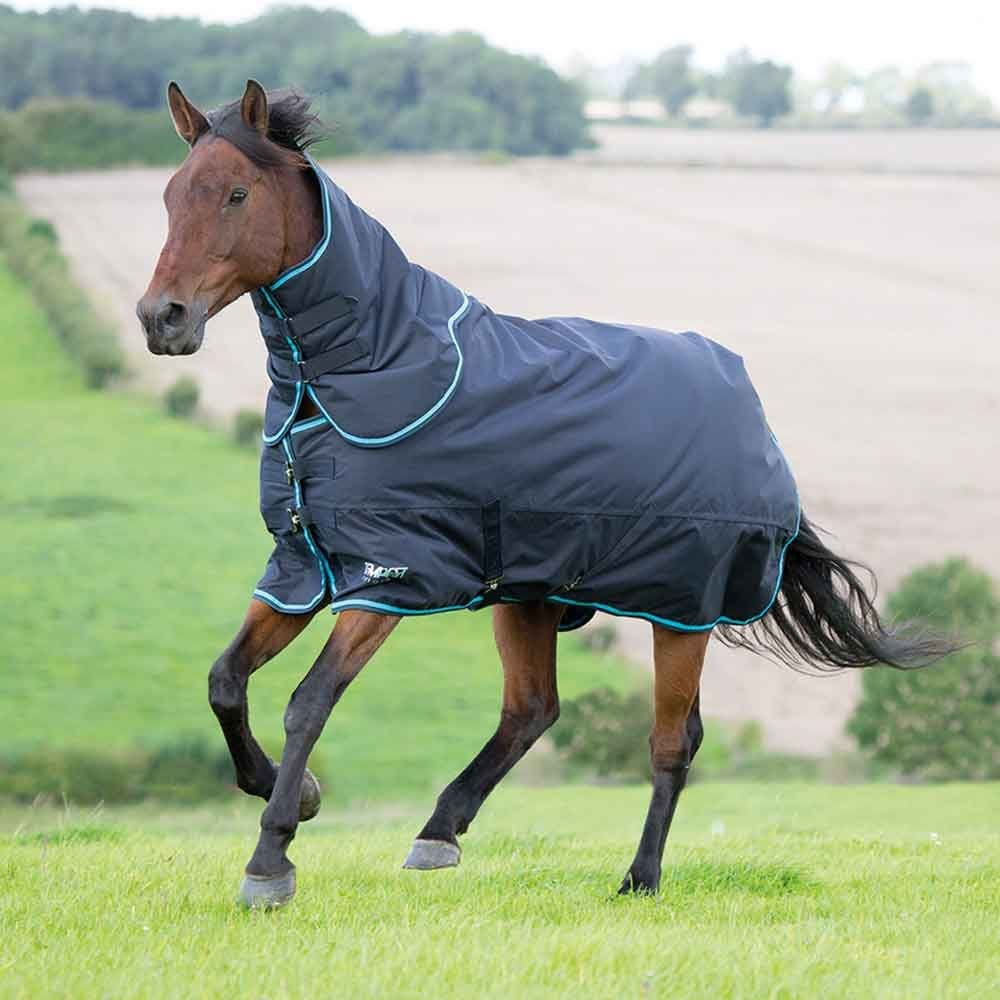 Tempest Original 200g Turnout Rug Neck Set Charcoal Turquoise