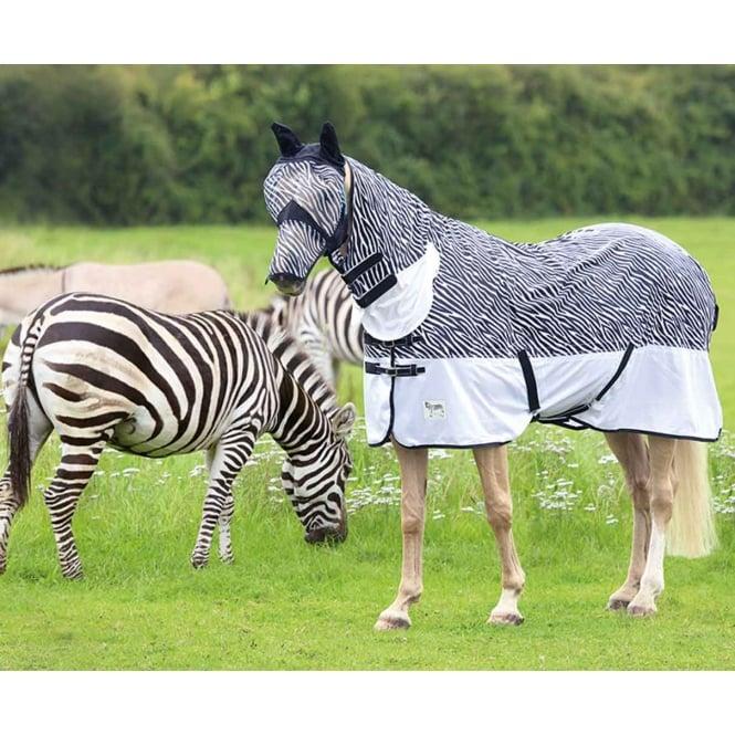 Shires Tempest Zebra Print Combo Fly Rug At Burnhills