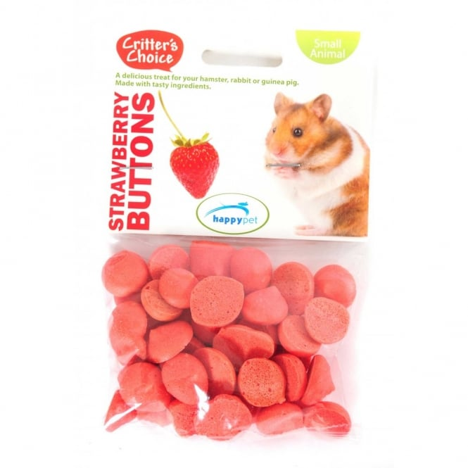 Critter's Choice Strawberry Buttons Small Animal Treats 40g