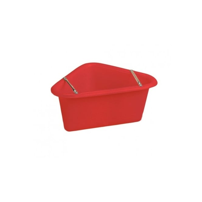 Stubbs Corner Manger with Anti-waste Bars Red