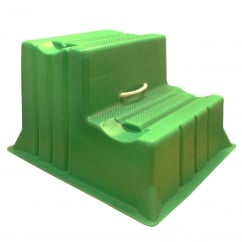Mountie Portable Step Mounting Block Green